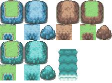 Pokémon-Tileset: Gibson feat. Kyledove: Felsen für transparentes Wasser