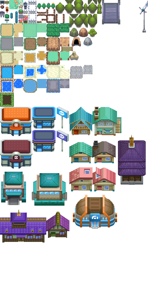 Pokémon-Tileset: HG/SS TileSet Remake