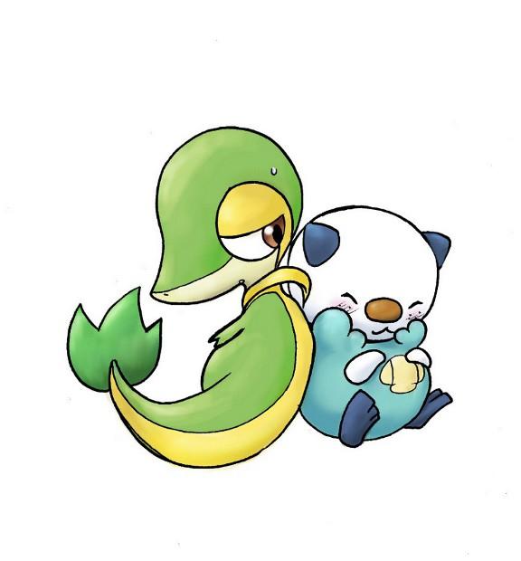 Pokémon-Zeichnung: Tsutarja & Mijumaru