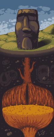Pokémon-Pixelart: Maoi aka Stöpsel