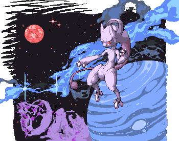 Pokémon-Pixelart: Mewepic