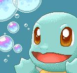 Pokémon-Pixelart: Blubberblasen