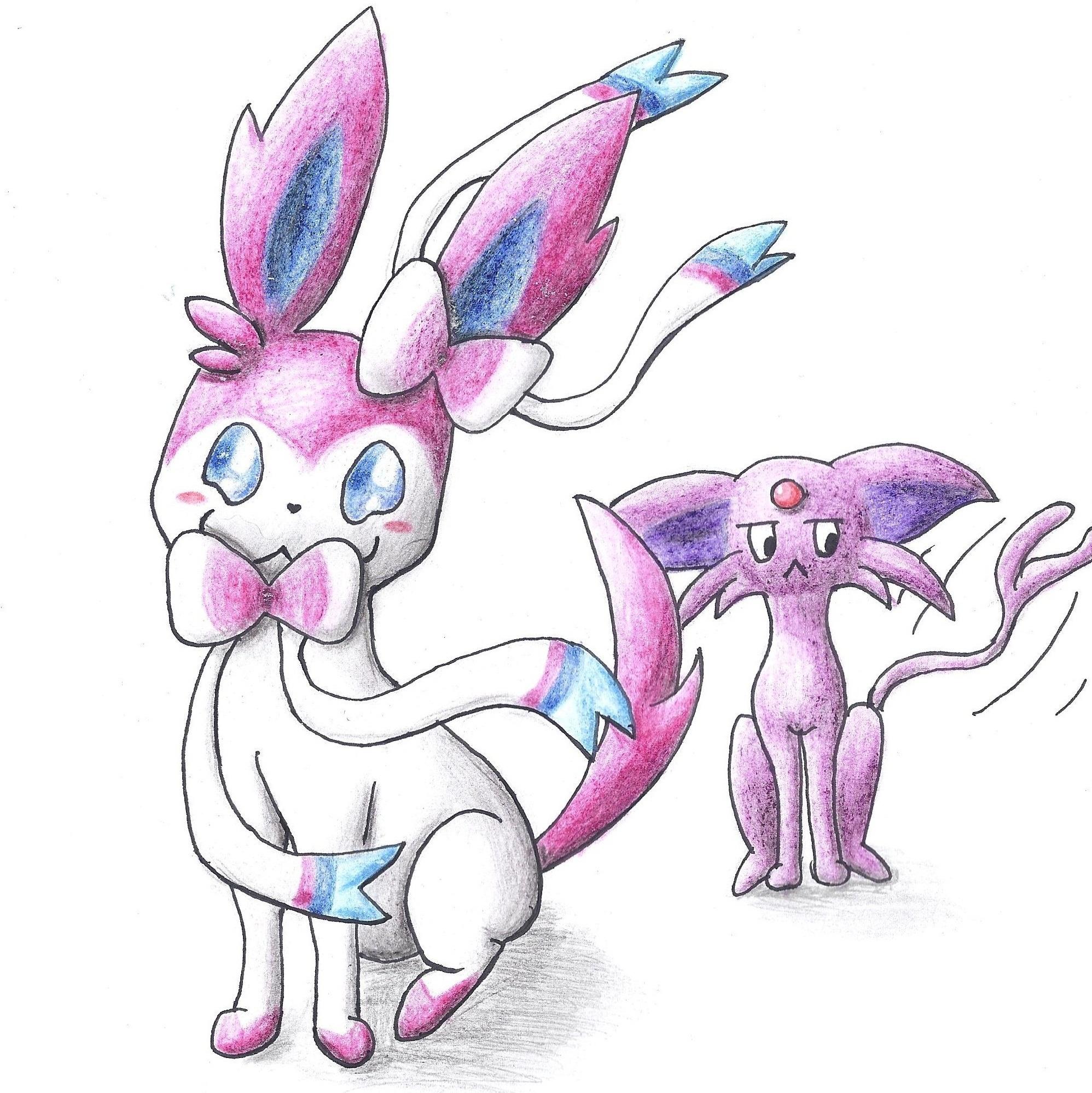 Pokémon-Zeichnung: haha ich bin auch pink
