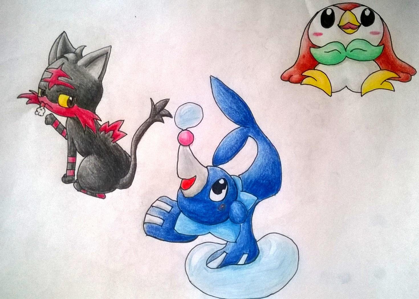 Pokémon-Zeichnung: Starter