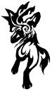 Lucario Tribal Tattoo