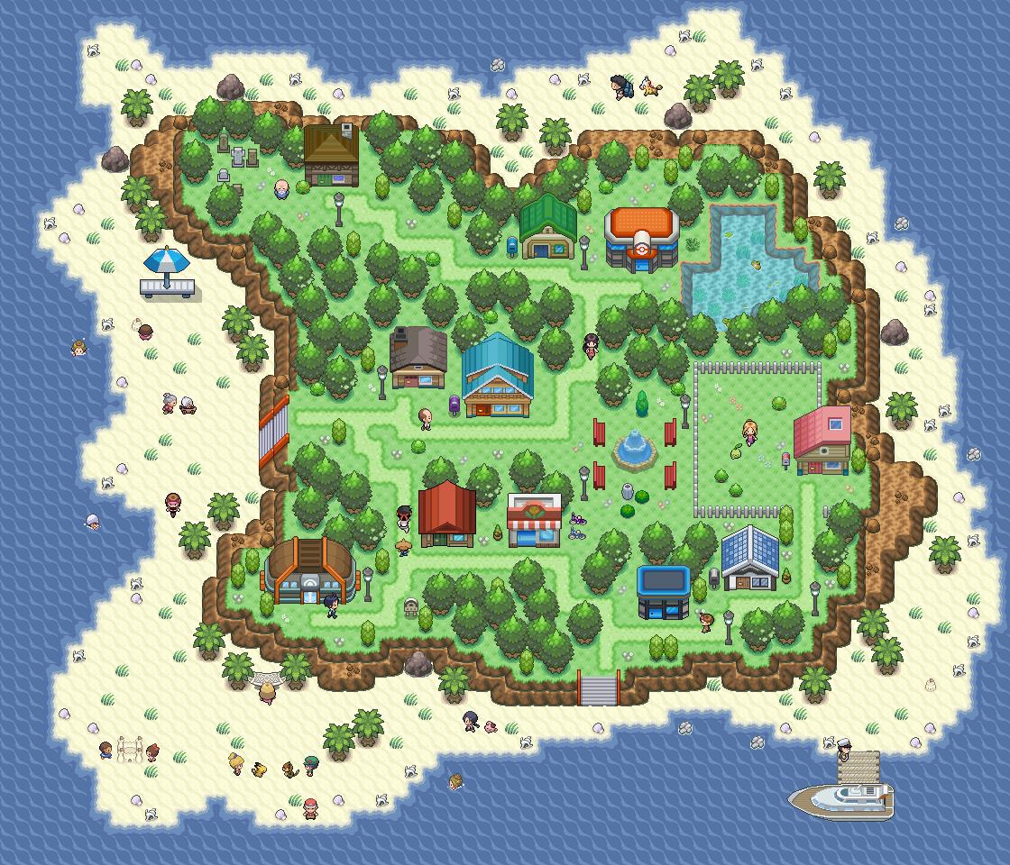 Pokémon-Map: Insel - Tag