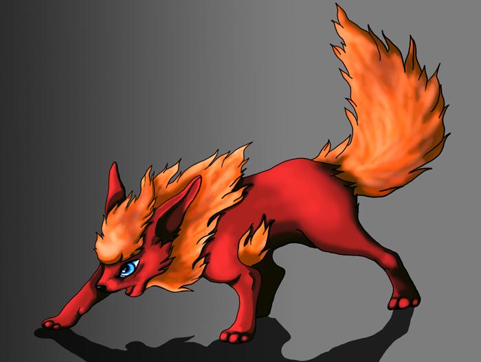Pokémon-Zeichnung: flamara