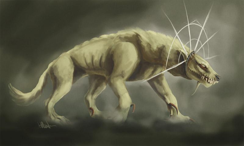 Pokémon-Zeichnung: Concept Art: Fenrir