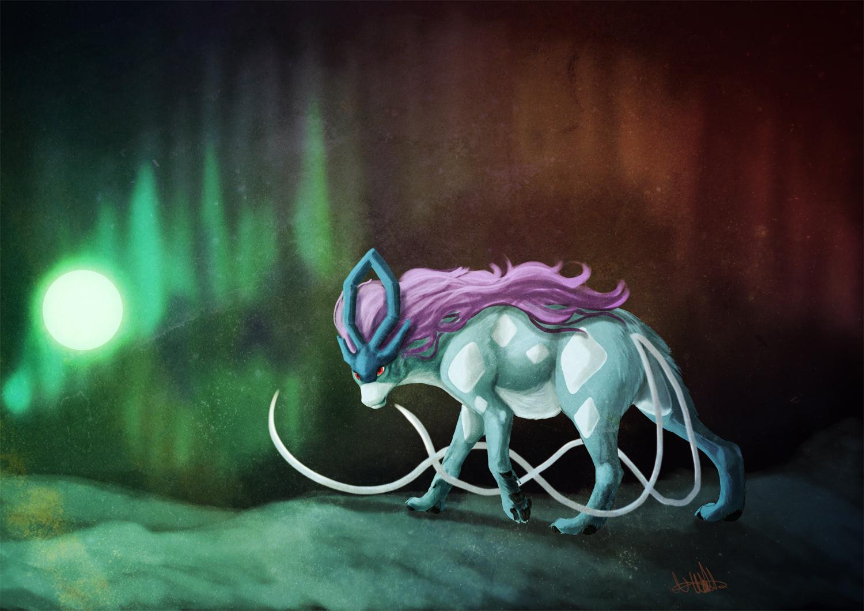 Pokémon-Zeichnung: Suicune