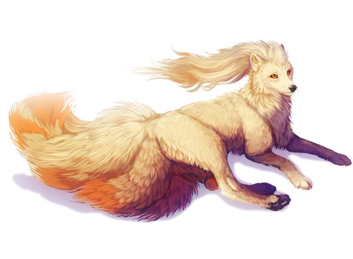 Pokémon-Zeichnung: Ninetales without nine tales :>