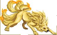 Pokémon-Pixelart: ninetales