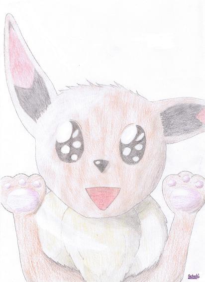 Pokémon-Zeichnung: Evoli