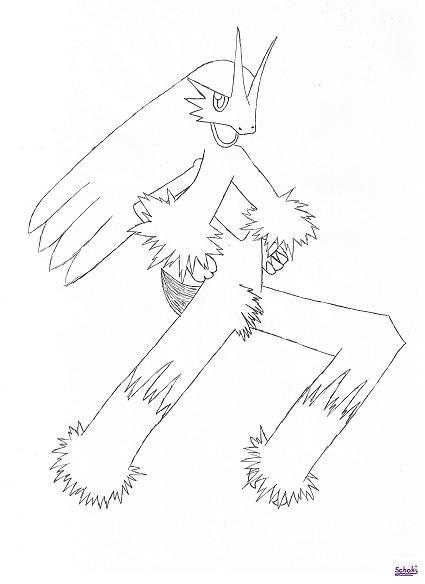 Pokémon-Zeichnung: Lohgock Outlines