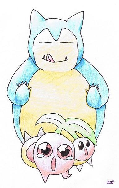 Pokémon-Zeichnung: Hungriges Relaxo