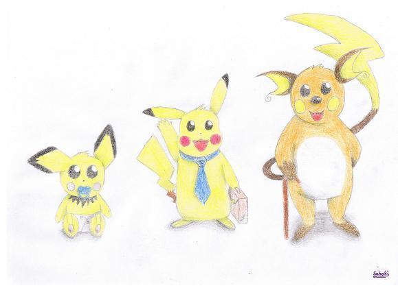 Pokémon-Zeichnung: Pika!