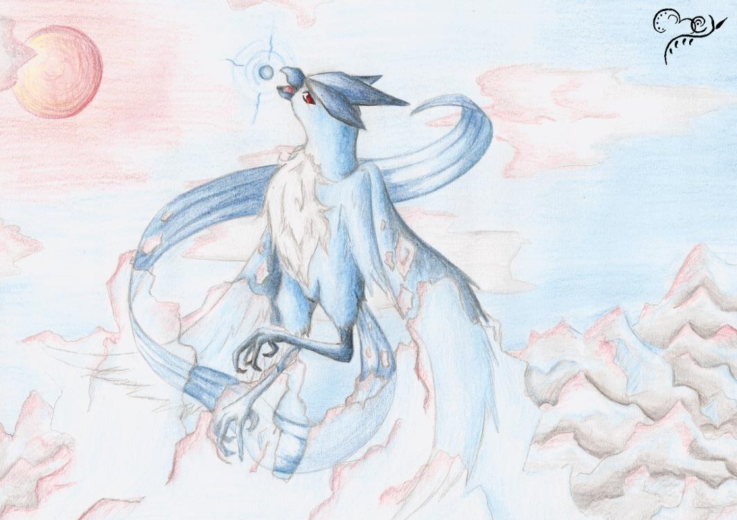 Pokémon-Zeichnung: Eisgefängnis