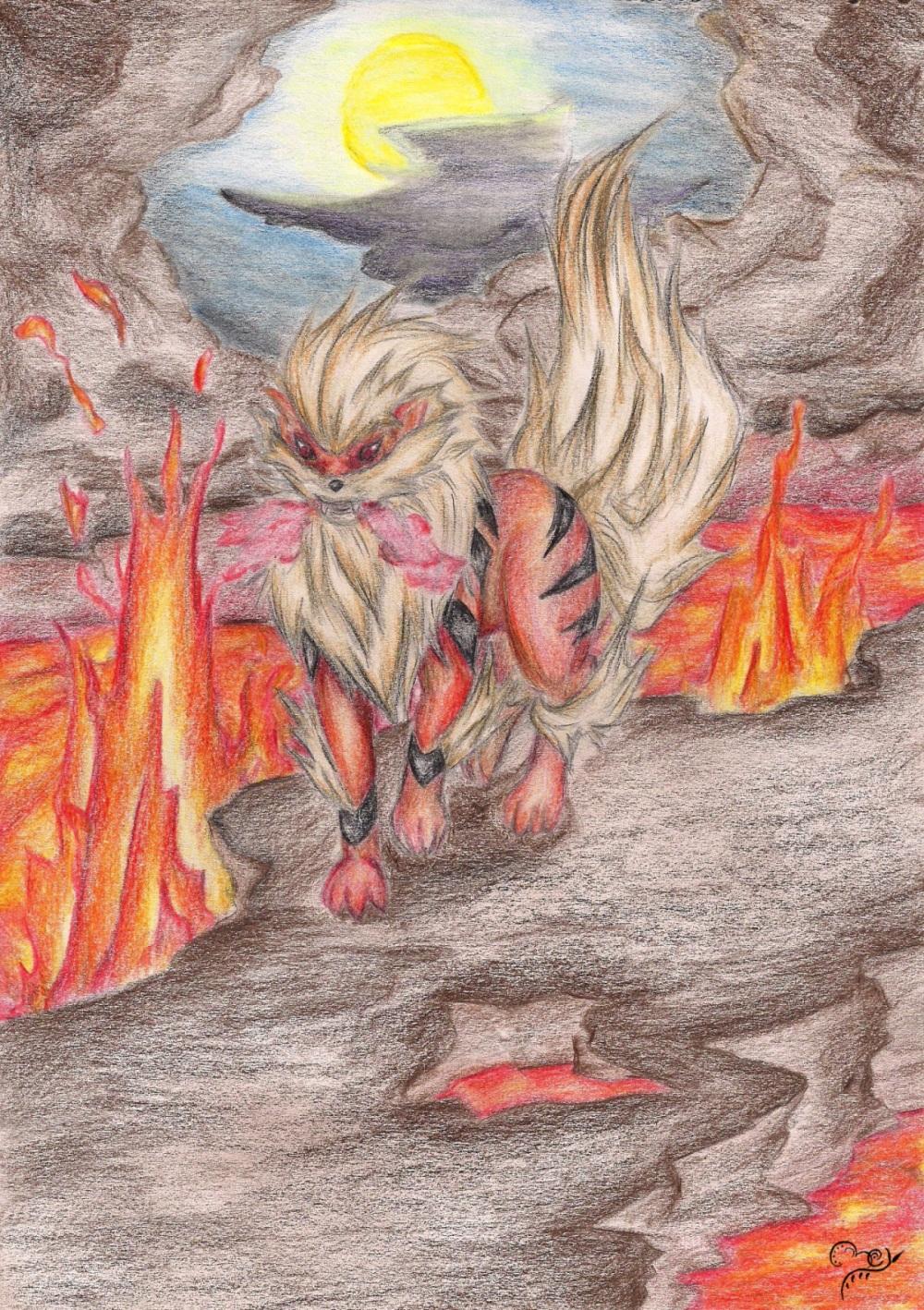 Pokémon-Zeichnung: Raserei