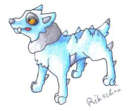 Pokémon-Zeichnung: Wasserstarter Grundstufe