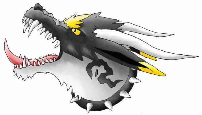 "Pokémon-Zeichnung: Fake Pokemon ""fendow"" Kopf"