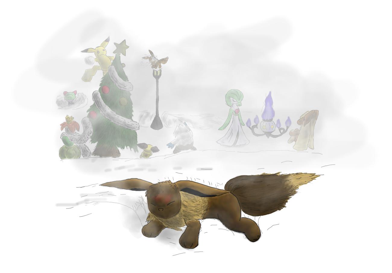 Pokémon-Zeichnung: Weihnachten?