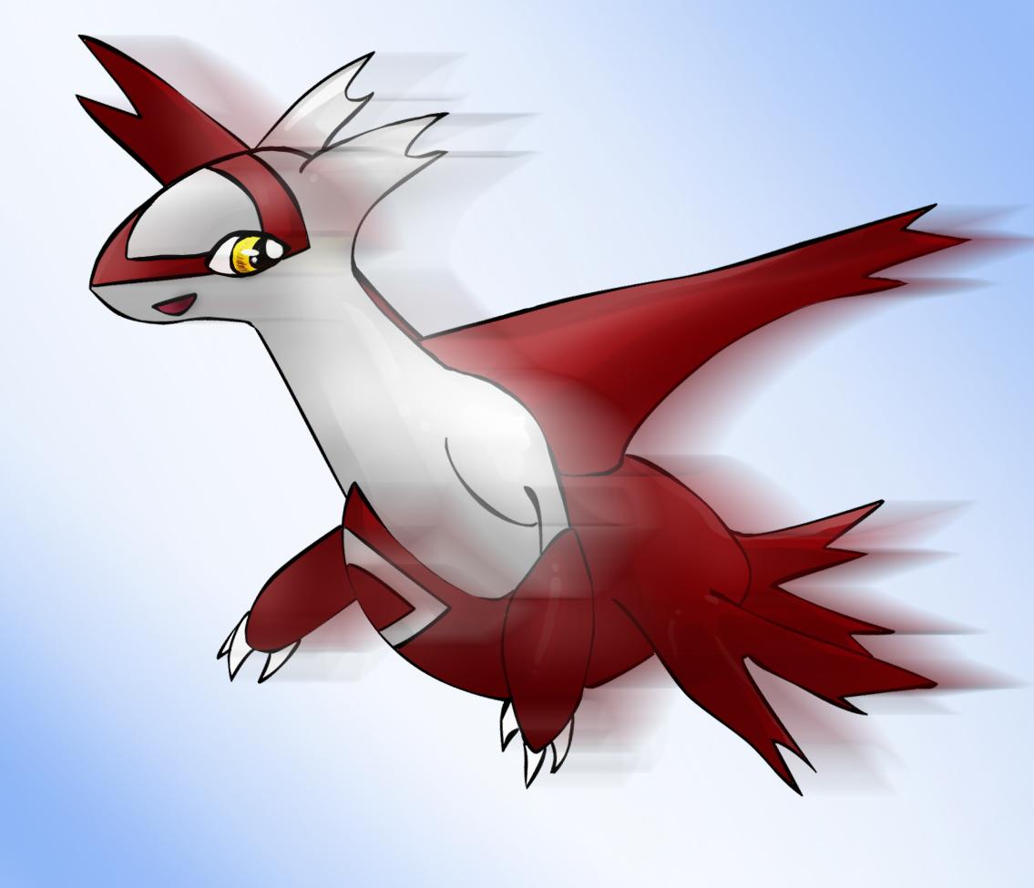 Pokémon-Zeichnung: Beispielbild Latias