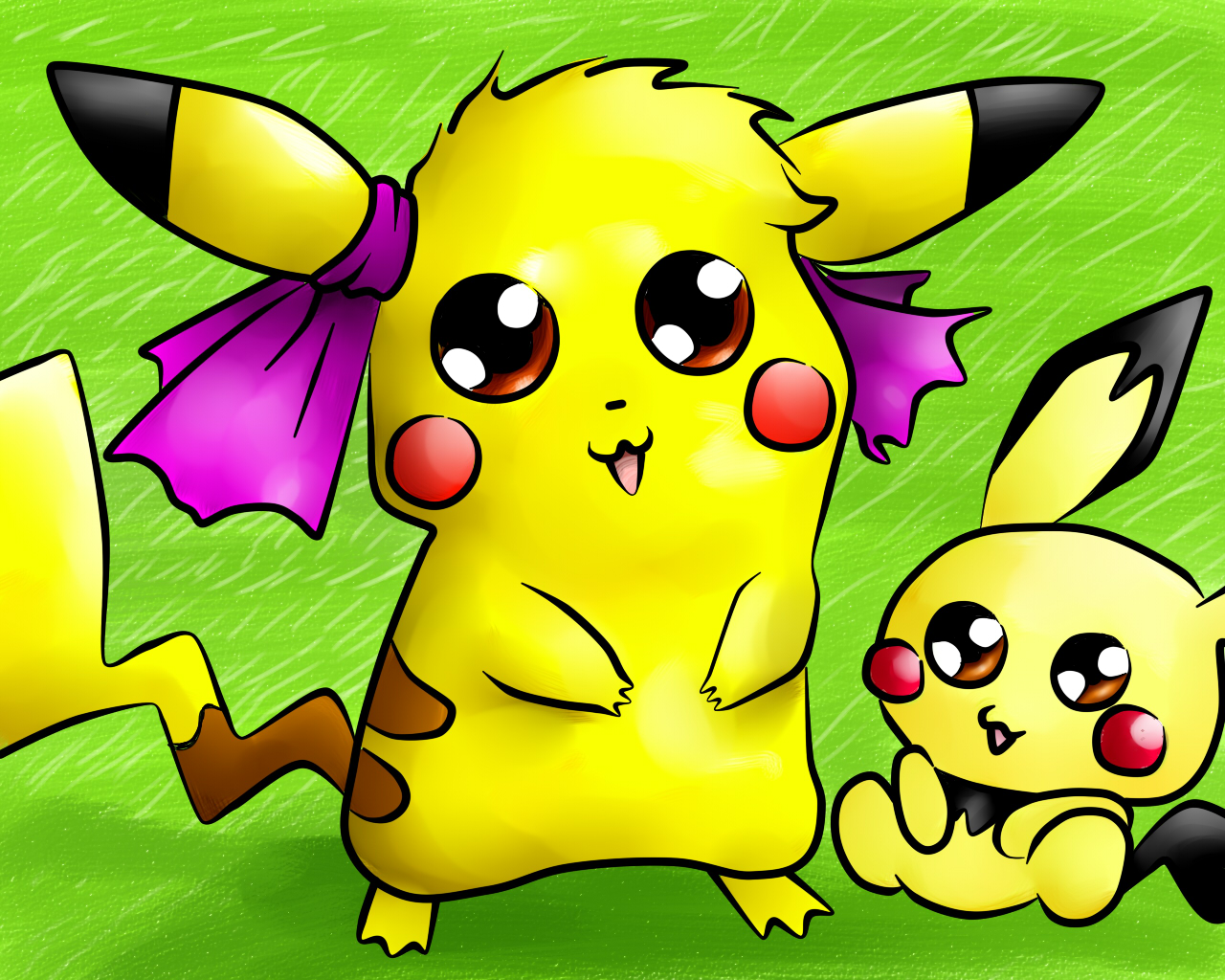 Pokémon-Zeichnung: pikachu und pichu! (seeehr kreativ was?)