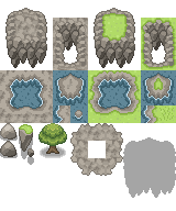 Pokémon-Tileset: Flying Island