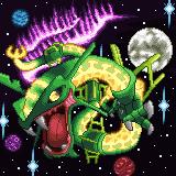 Pokémon-Pixelart: Proto-Rayquaza