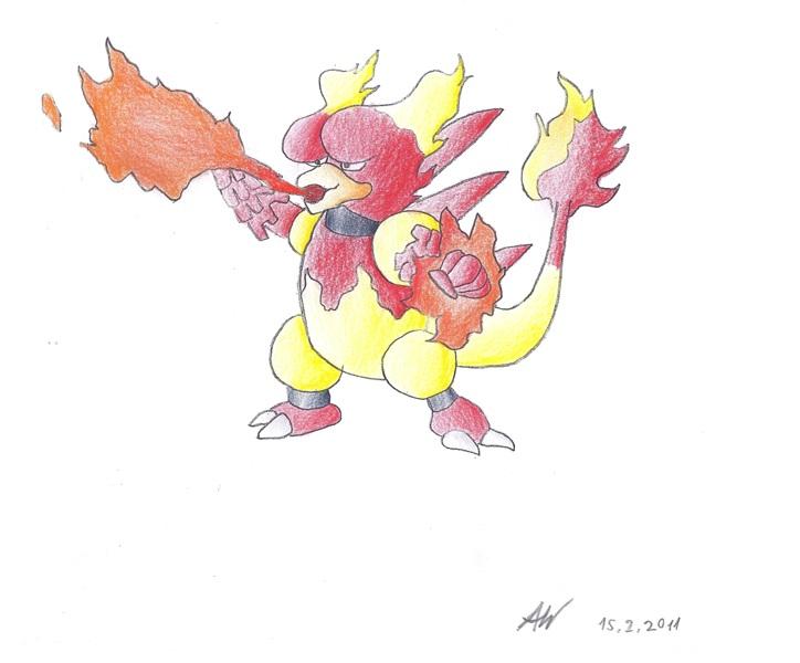 Pokémon-Zeichnung: Magmar