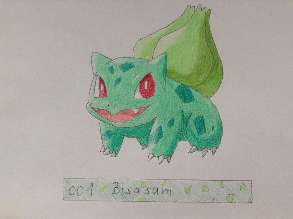 Pokémon-Zeichnung: #001 - Bisasam
