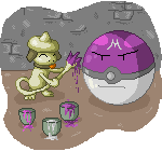 Pokémon-Pixelart: Painting Smeargle