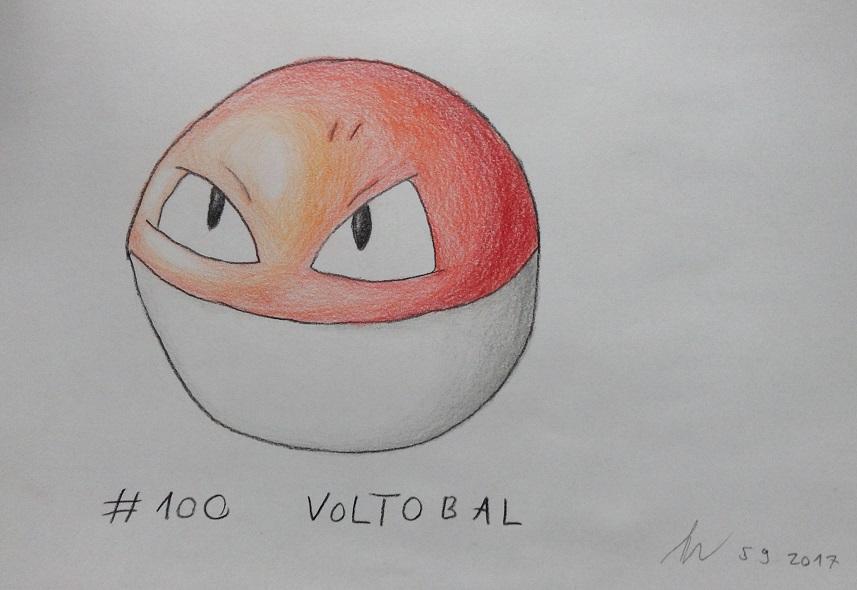 Pokémon-Zeichnung: #100 - Voltobal