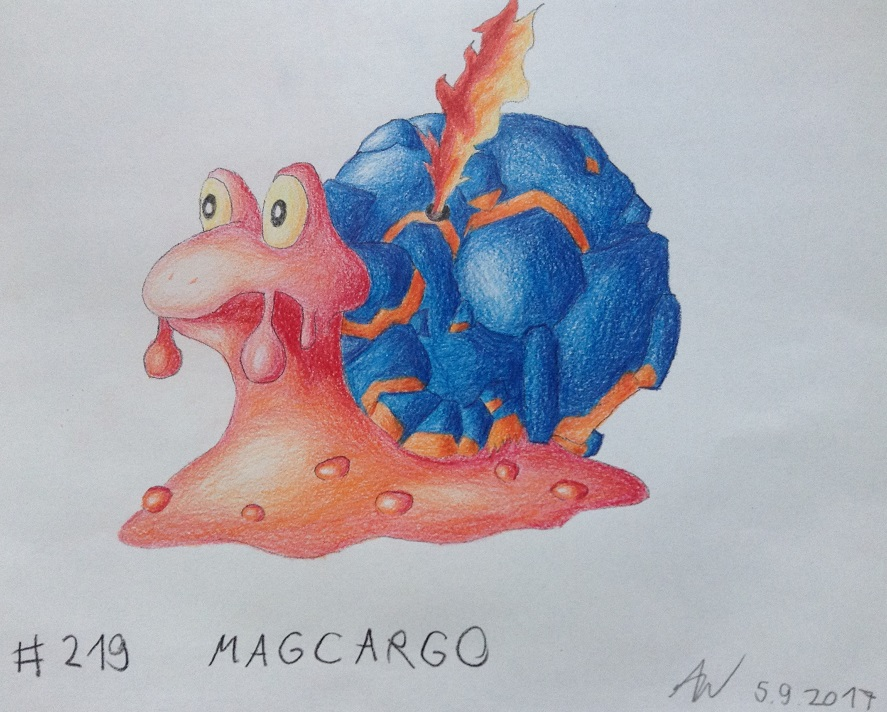 Pokémon-Zeichnung: #219 - Magcargo