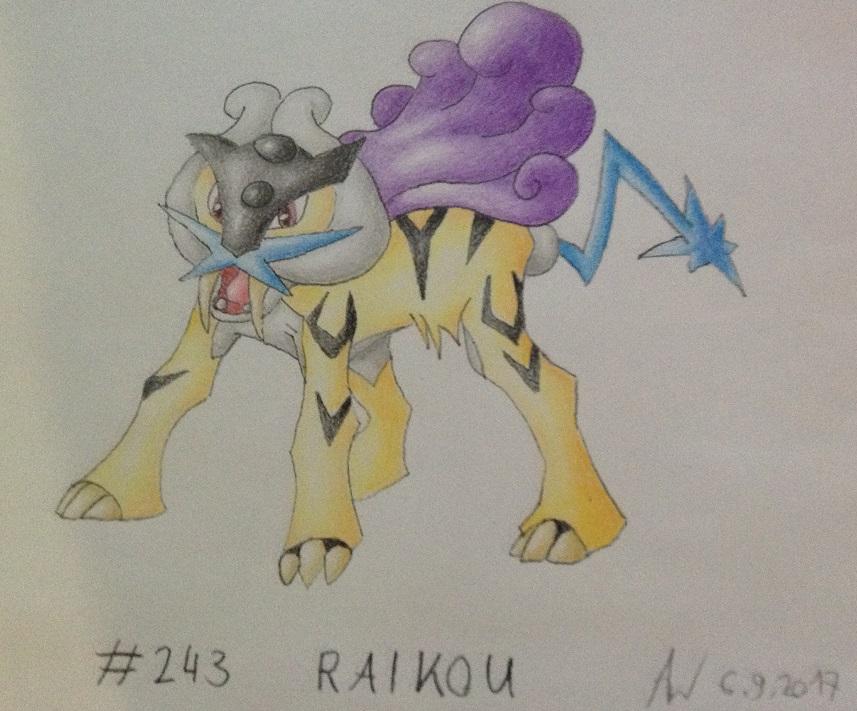 Pokémon-Zeichnung: #243 - Raikou
