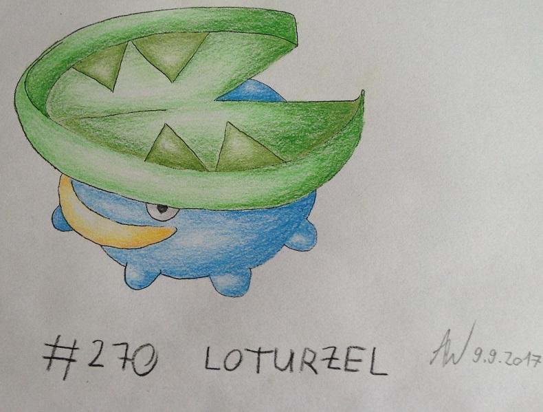 Pokémon-Zeichnung: #270 - Loturzel