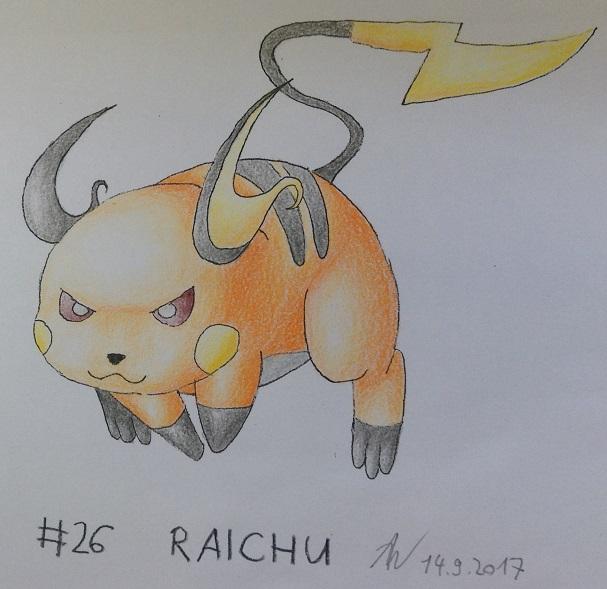 Pokémon-Zeichnung: #26 - Raichu