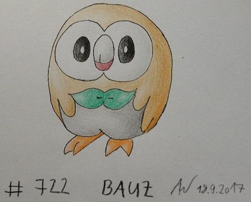 Pokémon-Zeichnung: #722 - Bauz