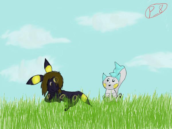 Pokémon-Zeichnung: Beste freunde