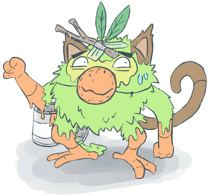 """Pokémon-Zeichnung: """"Chimpep"""""""