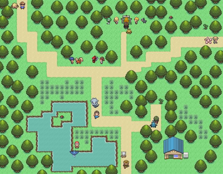 Pokémon-Map: irgendeine route