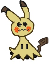 Pokémon-Pixelart: Paint Mimigma