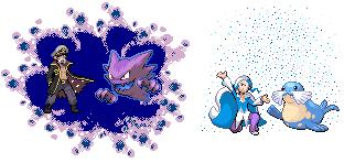 Pokémon-Pixelart: Trainer: Geist und Eis