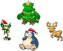 Pokémon-Pixelart: Weihnachten!