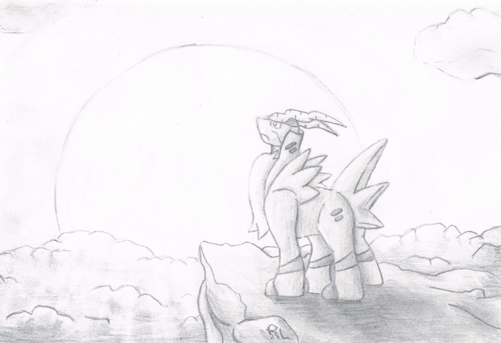 Pokémon-Zeichnung: Kobalium - SW