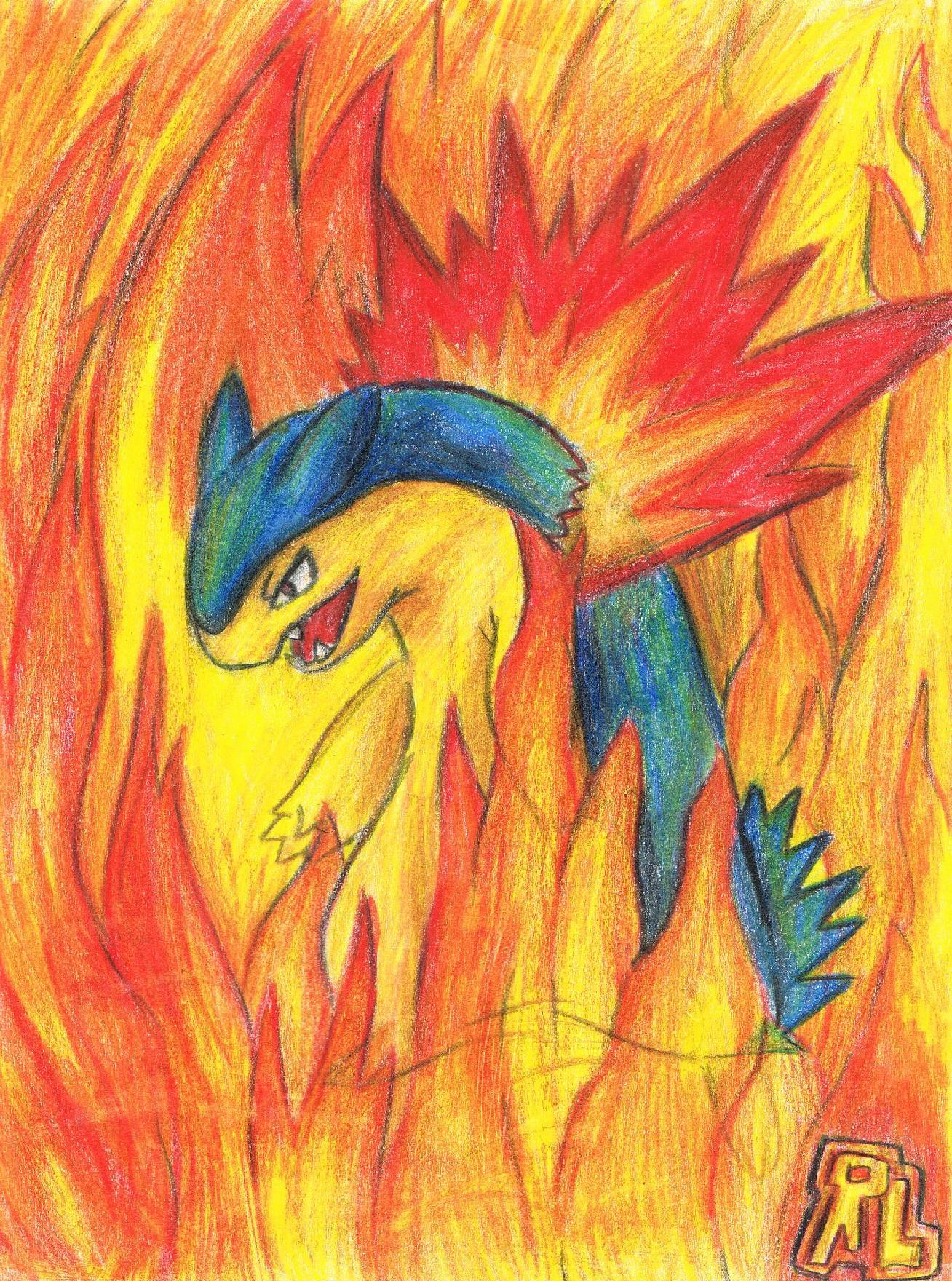 Pokémon-Zeichnung: Lightfire