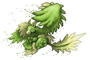 Pokémon-Sprite: Legendär - Pflanzen Drache