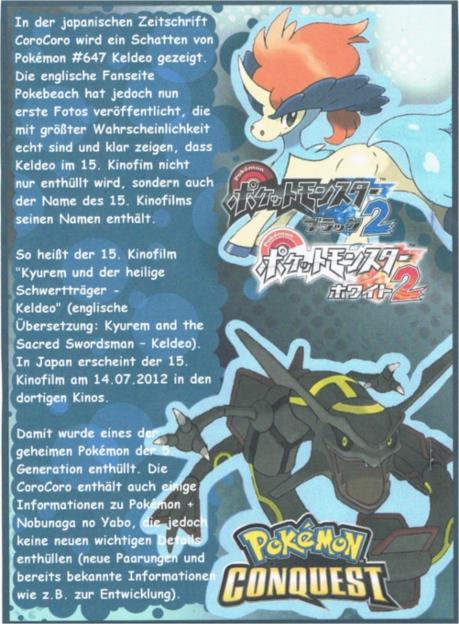Pokémon-Fanart: CoroCoro oder Pokemon Magazin-Like!