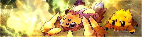 Pokémon-Fanart: Voltula und Wattzapf
