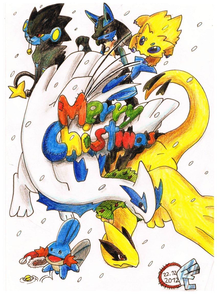 Pokémon-Zeichnung: Frohe Weihnachten