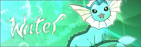 Pokémon-Fanart: Beispielbanner - Wasser